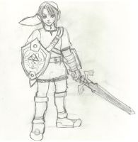 Link in pencil by Lunitaire
