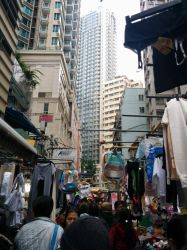 Market in Wan Chai by Vatnid