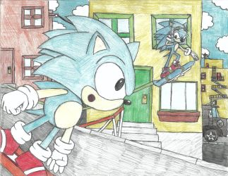 Sonic Generations City escape by QuassarSonic2010