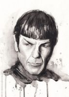 Spock Portrait Star Trek Art by Olechka01