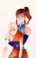 aang and korra by drchopper7