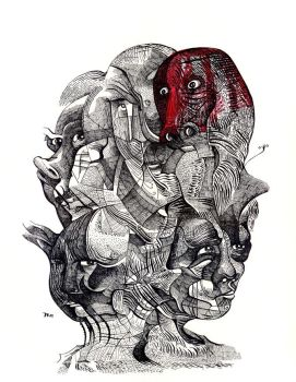Untitled Drawing Mheads-1 by jeremiahkauffman