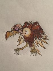 Rayman chronicles character: Reflux's vulture  by nathandlneumann