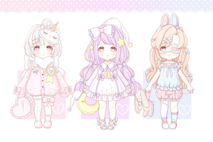 [CLOSED] ~ Non-Species Adopts: Set Priced ~ by intheyuukei