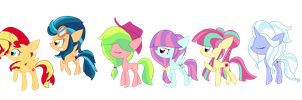 AU .Mane Six. by shadcream4eva