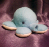 Little Blue Octopus Plushie by Rydiah