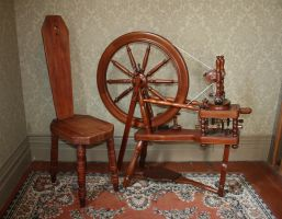 Spinning wheel stock by CathleenTarawhiti