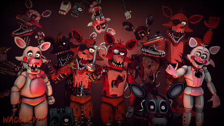 Foxy Generations [SPEEDART] by witheredfnaf