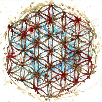 Flower of Life (rose) Ink and Tea by Carnegriff