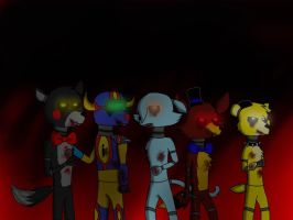 Five nights at freddy's (guys) by Pinkwolfly
