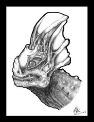 Creature Head by MichaelsPencil