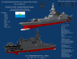 Elonia Class Guided Missile Frigate by Stealthflanker