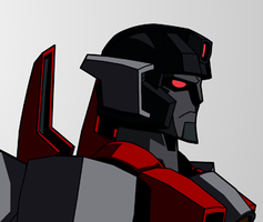 TF:Ignition - Starscream head side view by KrisSmithDW
