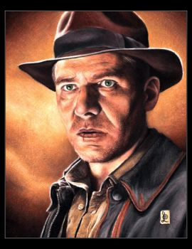 Harrison Ford, Indiana Jones by louissollune