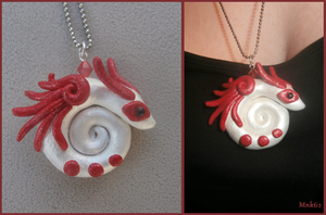 Clay dragon pendant by Monkiki62