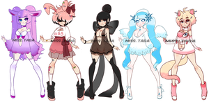 (CLOSED) Adoptables .o31 by Mymy-TaDa