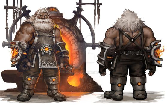 Dwarf blacksmith by yy6242