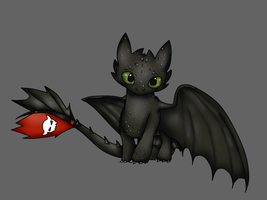 [Gif] Chimuelo / Toothless by Zacuraptor