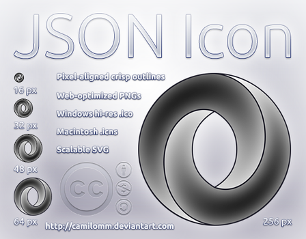 JSON Icon by CamiloMM