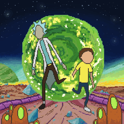 Rick and morty by Fravinha