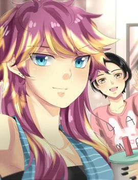 selfie at the mall by urusai-baka