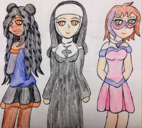 Three friends~request by VeronicaPrower