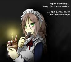 Happy Birthday, Mary! (3st anniversary) by NaughtyKittyDV-1992