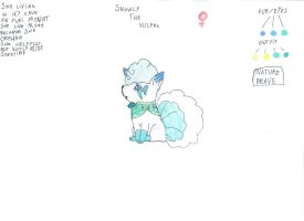 snowly the vulpix by lilicorneroce