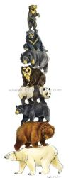 Bear Stack by Foxfeather248