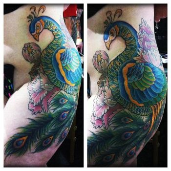 peacock part 1 by InspirationsTattoos