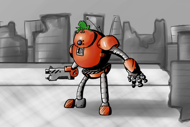 Frog and His Steed Tomato-Bot by HeatResin