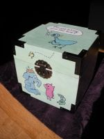 Mo Willems Pigeon Painted Box by Sidhe-Etain