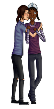 Ellie x Clementine (commission 1/3) by tanja7105