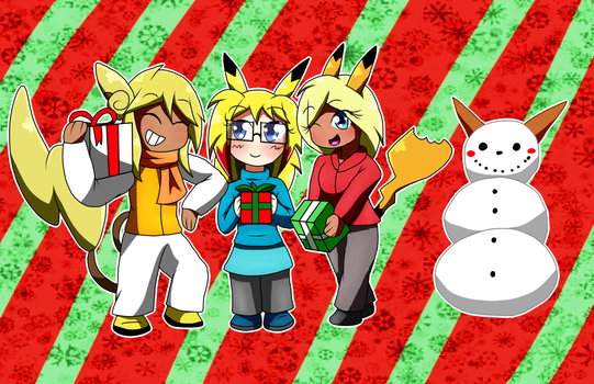 Holiday Chibis: Pikas! by MetaDoodles