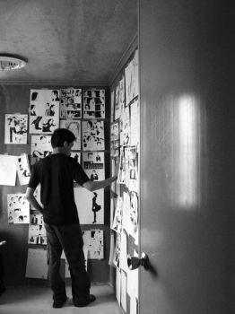 The Wall of Drawings:Raw Photo by VindictiveVendetta