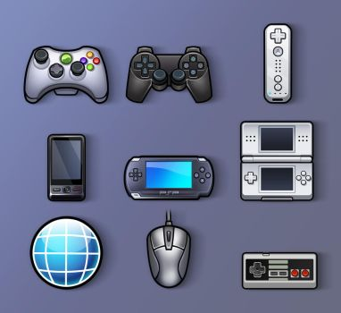 Gaming Icons by MaroBot