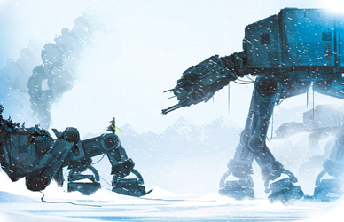 Jedi in a snowstorm by ChasingArtwork