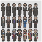 Doctor Who Perler Bead by geek-2perlerbeads