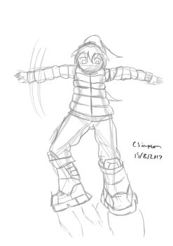 Rocket boots girl by PlayerError404