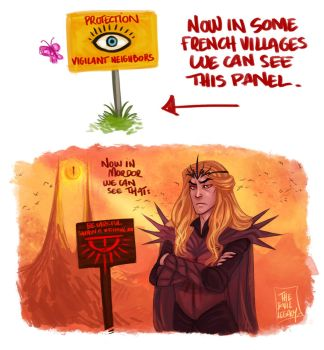 LOTR - Sauron Is Watching You by the-evil-legacy