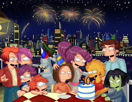 Miss Futurama's B.Day Pic.  Version 2.1 by simpspin