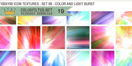 Icon Textures Set 09 - Color and Light Burst by colorfilter