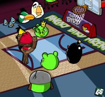 Angry Birds Basketball by geogant