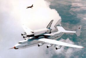 Buran Piggybacked on a Antonov by GeneralTate