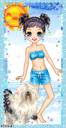 65. Lucy and her dog vacations by Erozja