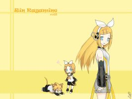 Kagamine Rin Wallpaper 2 by eternalbell