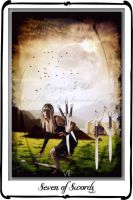 Tarot- Seven of Swords by azurylipfe