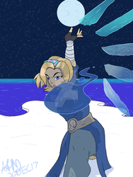 Waterbender Mercy by CrimsonGlow