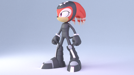 Shade the Echidna ||neutral Colours by Justin113D