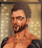 Adam Jensen CLOSEUP by Maszrum